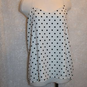 Express Ladies polka dot camisole type top Size L